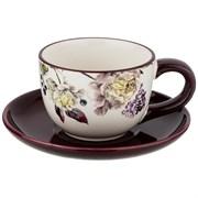 "Чайный набор на 1 персону ""Пурпур"" 15*15 см H=7 см / 220 мл"