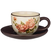 """Чайный набор на 1 персону """"Корейская роза"""" 15*15 см H=7 см / 220 мл"""