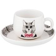 """Кофейная пара lefard """"Fashion animals"""" кот, на 1 персону 2пр. 90 мл"""