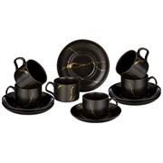 """Чайный набор на 6 персон коллекция """"Золотой мрамор"""" объем чашки 250 мл"""