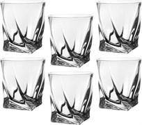 "Набор стаканов для виски из 6  шт ""квадро"" 340 мл H=10 см"