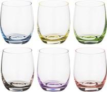 "Набор стаканов для виски из 6  шт ""Rainbow"" 300 мл H=9 см"