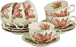 """Чайный набор lefard """"Корейская роза"""" 12 пр. на 6 пер. 250 мл"""