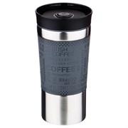 Термокружка agness с кнопкой-стоппером и удобной крышкой с доступом 360с, 380 мл