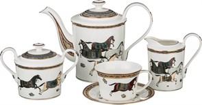 """Чайный сервиз """"Лошадь"""" на 6 персон 15 пр. 1450/500/400/240 мл"""
