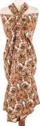 Парео 120х180 + мешочек , 100% хлопок, цветы индия
