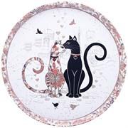 """Поднос сервировочный agness """"Парижские коты""""  33*2,1 см"""