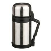 Термос agness с широким горлом 800 мл , крышка-чашка, пластик. чашка, двойная пробка, колба нжс