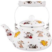 Чайник agness эмалированный, серия весёлые друзья, 2,5л