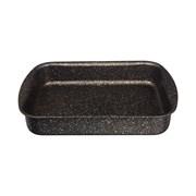"""Форма agness премиум """"Черное золото""""  прямоугольная 25х19x5,5 см , трехслойное покр granit, pfoa fre"""