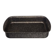 """Форма agness премиум """"Черное золото""""  прямоугольная 30х22x6 см , трехслойное покр granit, pfoa free"""