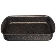 """Форма agness премиум """"Черное золото""""  прямоугольная 35х26x6,5 см , трехслойное покр granit, pfoa fre"""