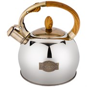 Чайник agness со свистком 3,0 л термоаккумулирующее дно, индукция