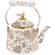 Чайник эмалированный agness со складывающейся ручкой, серия royal garden 2,5л подходит для индукцион