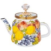 Чайник эмалированный agness,серия фландрия  1,0л