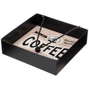 """Подставка для салфеток коллекция """"Coffee & tea time"""" 18*18*5 см"""