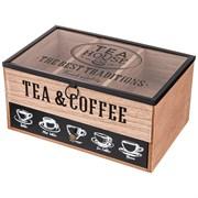 "Шкатулка для чая коллекция ""Coffee & tea time"" 25*16*12 см"