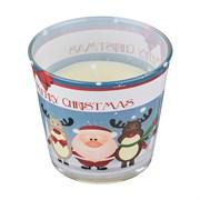 "Свеча ароматизированная ""Merry christmas"" шоколад и апельсин H=8 см D=9 см"