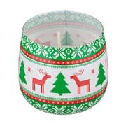 "Свеча ""Sweet christmas"" аромат=цветочный. H=7 см D=8 см"