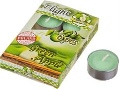 """Набор плавающих свечей из 6  шт """"зеленое яблоко"""" D=4 см H=2 см"""