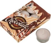 """Набор плавающих свечей из 6  шт """"Шоколад"""" D=4 см H=2 см"""