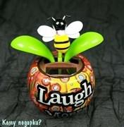 """Аксессуар для автомобиля """"Цветок"""" с пчелкой, 11x7x11см"""