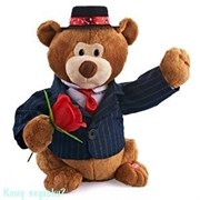 Поющая игрушка «Медвежонок-гуляка», h=29 см