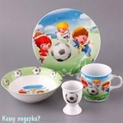 Детский набор посуды на 1 персону «Футболисты», 4 пр.