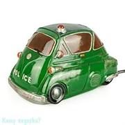 Ночник «Автомобиль полиции», 19х10х11 см, зеленый