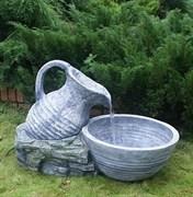 Фонтан для сада «Большой кувшин с чашей»