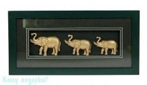 """Коллаж """"Слоны"""", 36x18 см"""