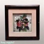 """Ключница настенная """"Цветы"""", 28x22x5 см"""