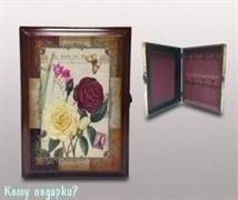 Ключница настенная «Цветы», 27x6,5x19,5 см