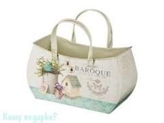 Кашпо сумочка серия «Baroque», 13x24x20 см