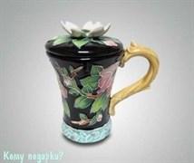 Кружка с крышкой «Цветущий кизил»