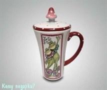 Кружка с крышкой «Влюблённые лягушки»