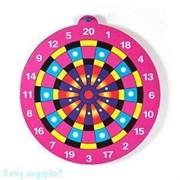Игра «Дартс», 001, 3 дротика, розовый, d=24 см