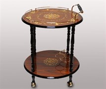 Сервировочный столик на колесах, Китай, d=60 см, h=78 см