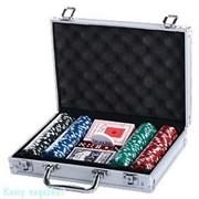 Набор для покера, 30x21 см, 200 фишек