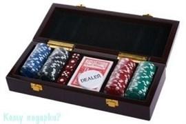 Набор для покера, 30x10 см, 100 фишек