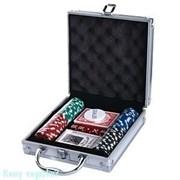 Набор для покера, 21x21 см, 100 фишек