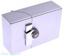 Портсигар, 9,5x6x3 см, серебряный