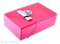 Портсигар, 9,5x6x3 см, розовый