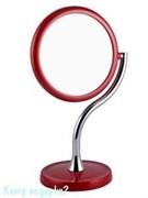 Зеркало настольное «RED», двухстороннее, 15 см
