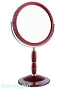 Зеркало настольное круглое с кристаллами «Red», двухстороннее, 18 см