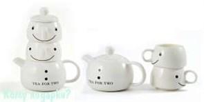Набор для чая «Снеговик», 20 см: чайник заварочный, 2 чашки