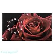 Канвас с часами «Роза», 30x53 см