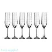 Набор бокалов для шампанского «Waterfall» 6 шт, 190 мл, h=24 см