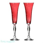 "Набор бокалов для шампанского ""Виктория Love"" 2 шт, 180 мл, h=25 см, крайола"