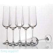 Набор бокалов для шампанского «Сандра» 6 шт, 200 мл, h=25 см
